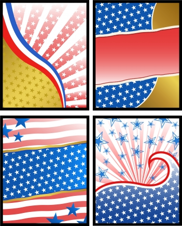 collection of american backgrounds Stock Vector - 16511037