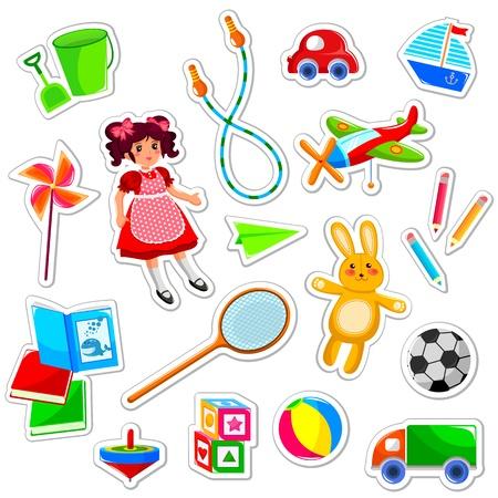 coleção de brinquedos bonito