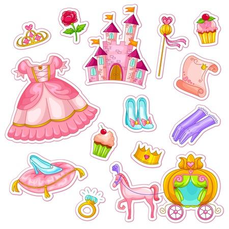 cole��o de coisas relacionadas com princesas