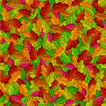 Seamless pattern with autumn leaves Stock Vector - 16511554