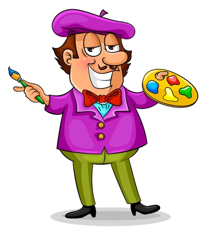 cartoon painter Stock Vector - 16525621