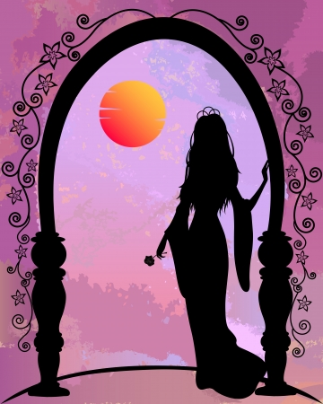 fairytale character: princess silhouette