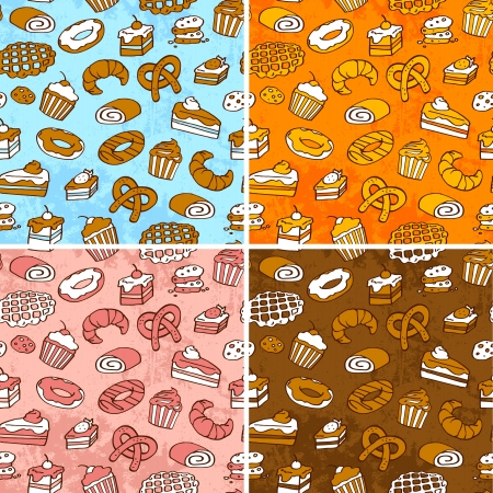 seamless patterns with pastries Stock Vector - 16525746