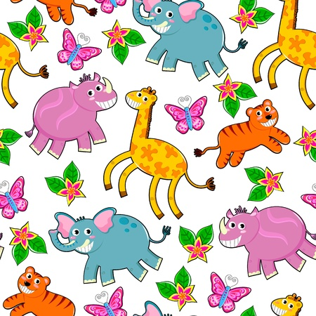 seamless animals pattern Vector