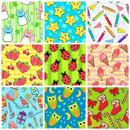 anime: Colecci�n de diferentes patrones de costura con dise�os adorables