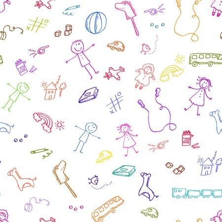 Jednolite wzór z doodles zabawek
