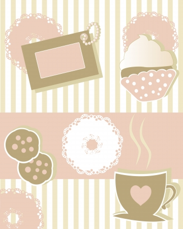 coffee and cookies Vector