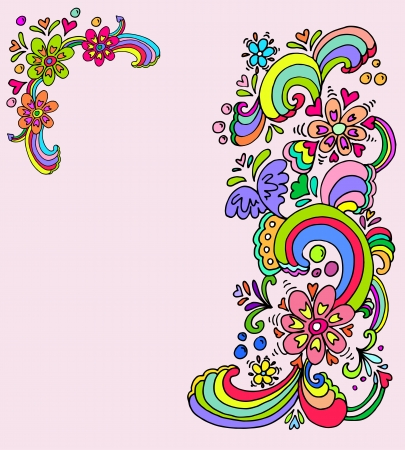 groovy: Hand drawn floral banners