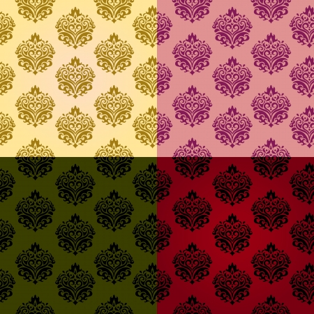seamless vintage patterns Vector