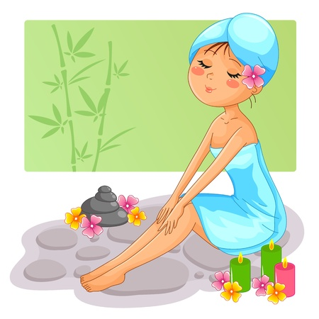menina spa Ilustração
