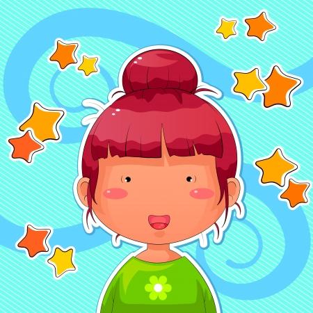 funny manga girl Stock Vector - 16656944