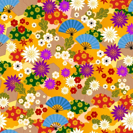 japanese pattern: Japanese kimono pattern Stock Photo