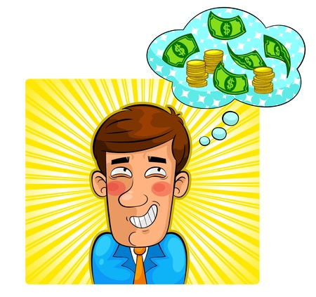 person fantasizing about money Stock Vector - 17899830