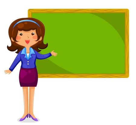 teacher standing next to a blackboard Stock Vector - 18821856