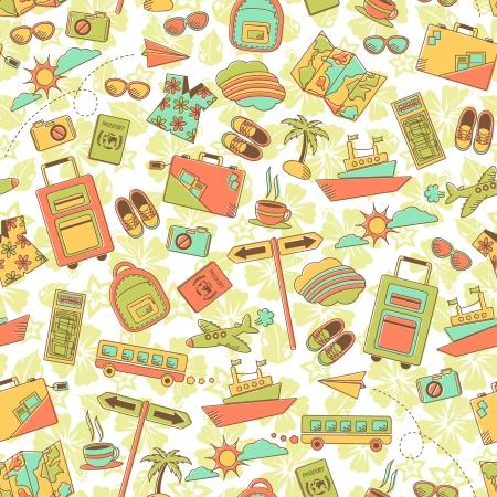 여행: 여행 기호 원활한 패턴