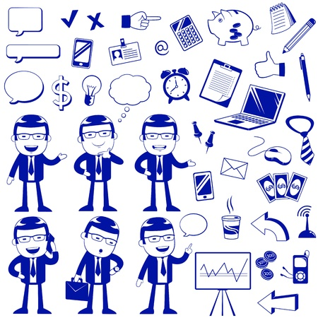 set of icons related to business and finance