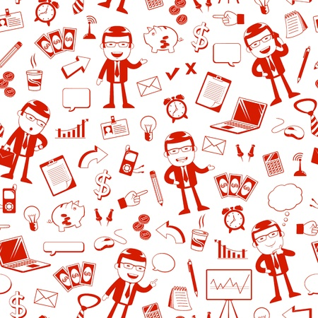 seamless pattern with business icons Stock Vector - 20744294