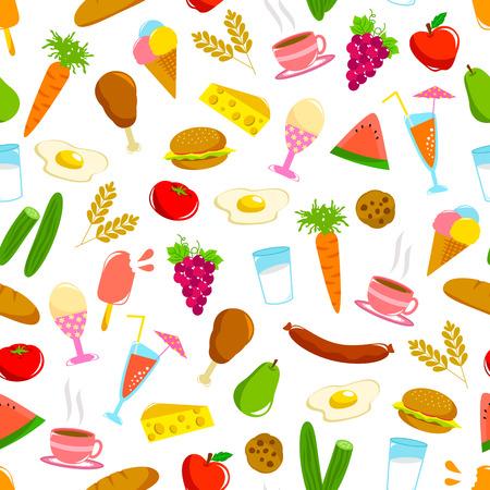 Seamless, avec divers aliments Banque d'images - 26922734