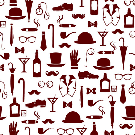 masculine: seamless pattern with vintage masculine elements