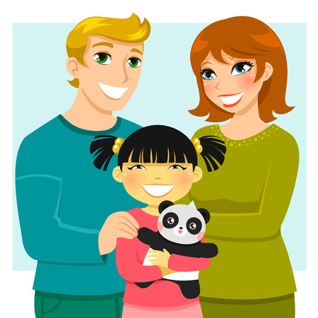 cute lady: adoptive family