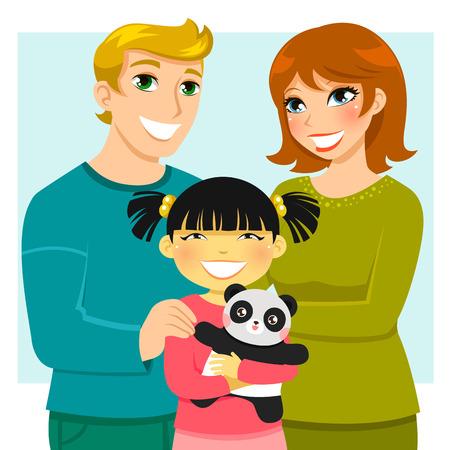 ni�as peque�as: familia adoptiva