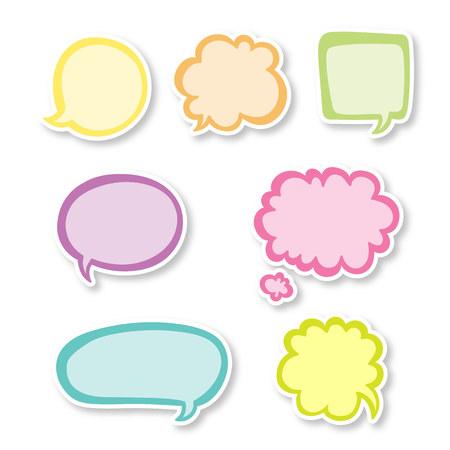 Colorful Speech Bubble Set Illustration