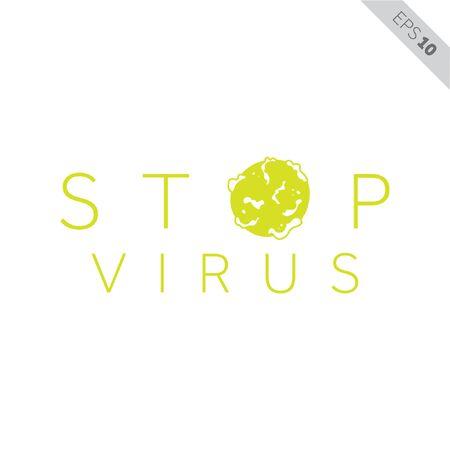 stop virus icon illustration, vector