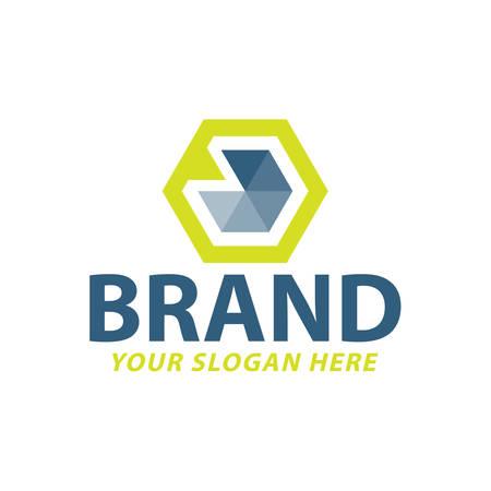 creative hexagonal logo design, vector