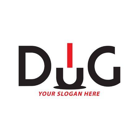 Creative Dig Logo Design, Vector
