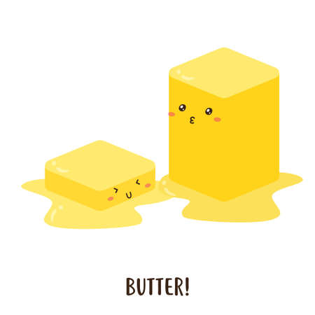 Cute happy melted butter vector design, can be use to make poster