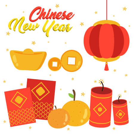 cool chinese new year supplies vector design collection, can be use to make poster