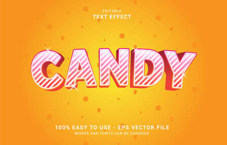 editable text effect, sweet candy style suit to make poster