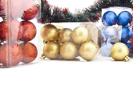 Sets of shining Christmas-tree decorations - Christmas balls Stock Photo - 6335381