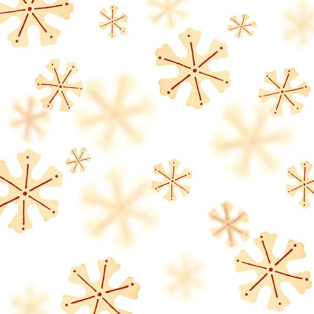 Christmas background with a pattern from snowflakes photo