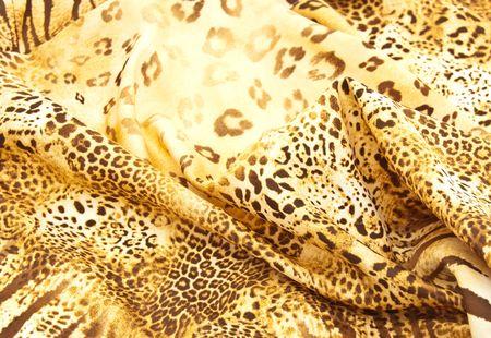 Beautiful silk scarf with a predatory pattern photo