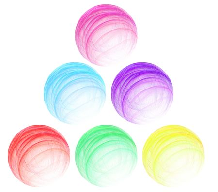 spherule: Set of multi-coloured abstract spheres