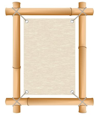 luau: Rice paper in a framework from a bamboo