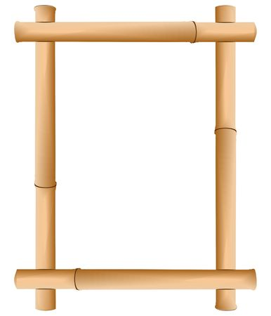 Rice paper in a framework from a bamboo Stock Photo - 6472166