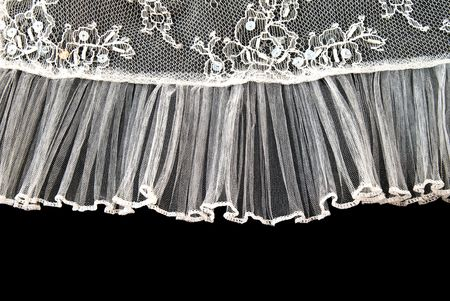 Beautiful gentle lace on a black background photo