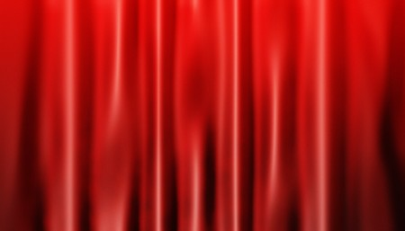 The draped red curtains photo
