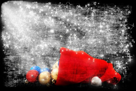 Cap of Santa  with Christmas decorations photo