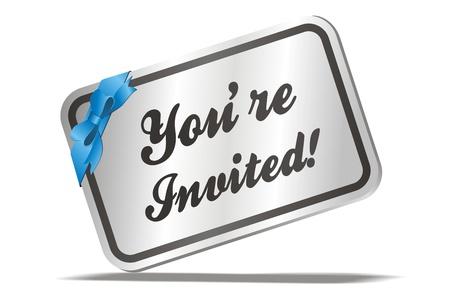 invited: invitation card - you are invited