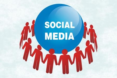 social media illustrations Stock Illustration - 19069022