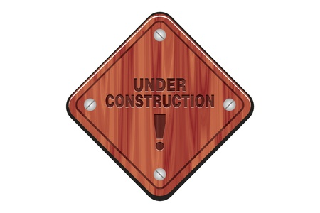 wooden sign - under construction Stock Photo - 19069010