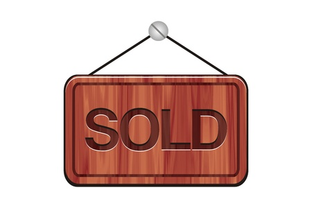 wooden sign - sold sign Stock Photo - 19068982
