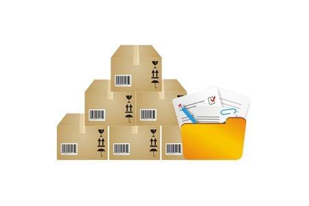 inventario: ilustración del inventario de almacenamiento