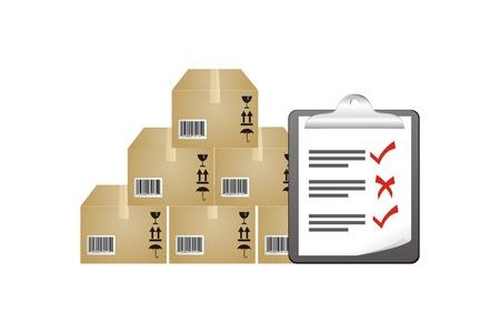 inventory: inventario de informes de stock Foto de archivo