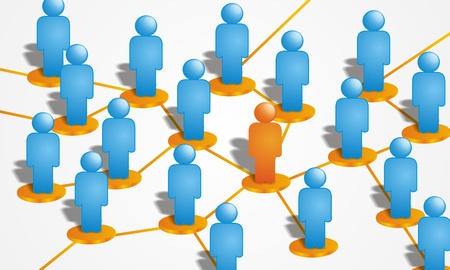 social system: people connections