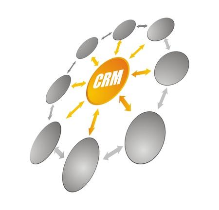 CRM - Customer Relationship Management Stock Photo - 19068952