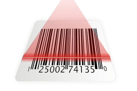 barcode scanner: barcode scanner with red laser
